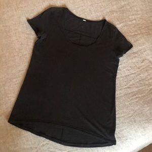 Lululemon Black short sleeve t-shirt size size 8